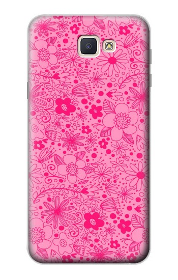 Printed Pink Flower Pattern Samsung Galaxy J7 Prime Case