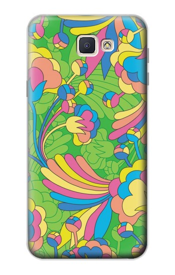 Printed Flower Line Art Pattern Samsung Galaxy J7 Prime Case