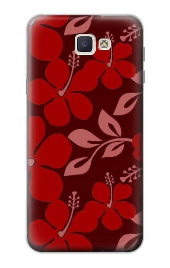 Printed Hawaii Dark Red Pattern Samsung Galaxy J7 Prime Case