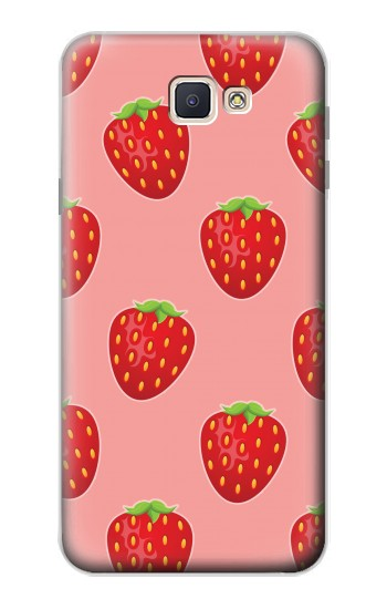 Printed Strawberry Fruit Pattern Samsung Galaxy J7 Prime Case