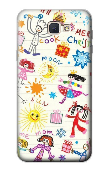 Printed Kids Drawing Samsung Galaxy J7 Prime Case