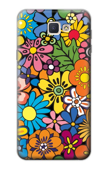 Printed Colorful Flowers Pattern Samsung Galaxy J7 Prime Case