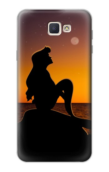 Printed Mermaid Sunset Samsung Galaxy J7 Prime Case