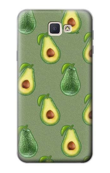 Printed Avocado Fruit Pattern Samsung Galaxy J7 Prime Case