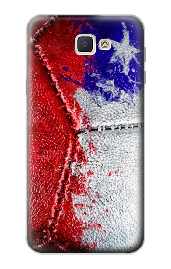 Printed Chile Flag Vintage Football 2018 Samsung Galaxy J7 Prime Case