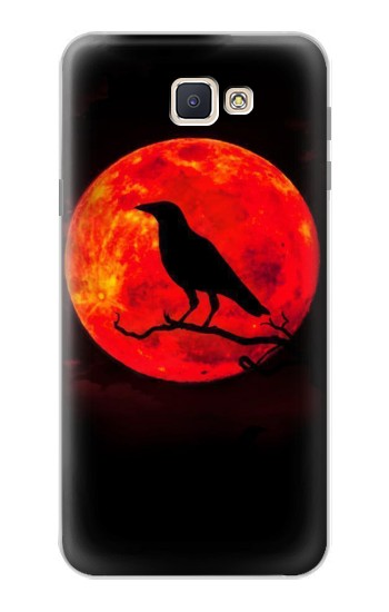Printed Crow Red Moon Samsung Galaxy J7 Prime Case