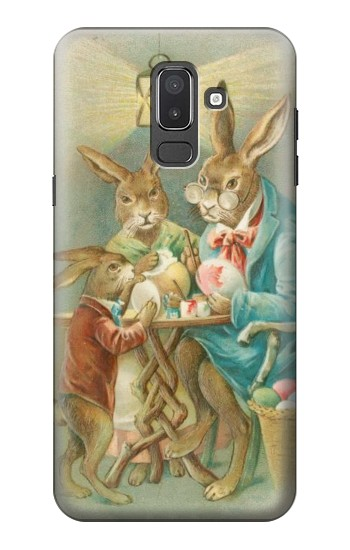 Printed Easter Rabbit Family Samsung Galaxy J8 Case