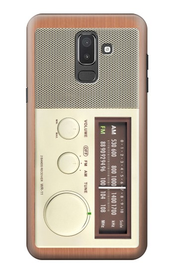 Printed FM AM Wooden Receiver Graphic Samsung Galaxy J8 Case