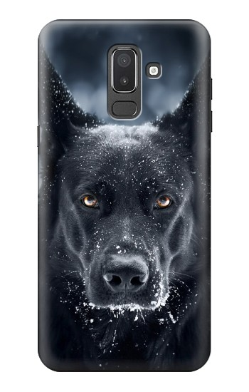 Printed German Shepherd Black Dog Samsung Galaxy J8 Case