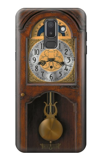 Printed Grandfather Clock Antique Wall Clock Samsung Galaxy J8 Case