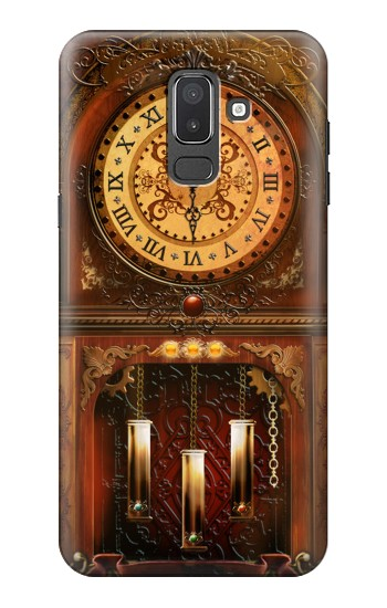 Printed Grandfather Clock Samsung Galaxy J8 Case