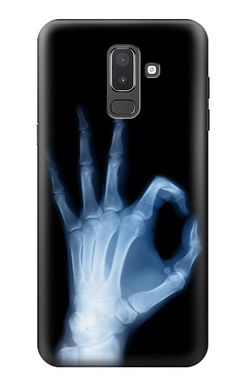 Printed X-Ray Hand Sign OK Samsung Galaxy J8 Case