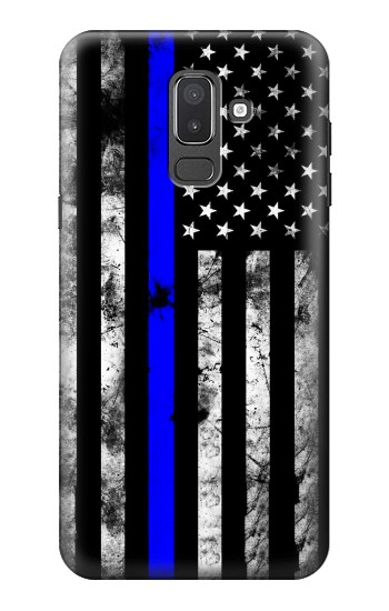 Printed Thin Blue Line USA Samsung Galaxy J8 Case