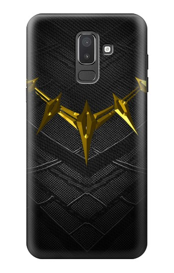 Printed Black Panther Inspired Costume Gold Necklace Samsung Galaxy J8 Case