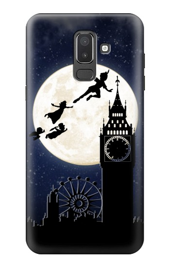 Printed Peter Pan Fly Fullmoon Night Samsung Galaxy J8 Case