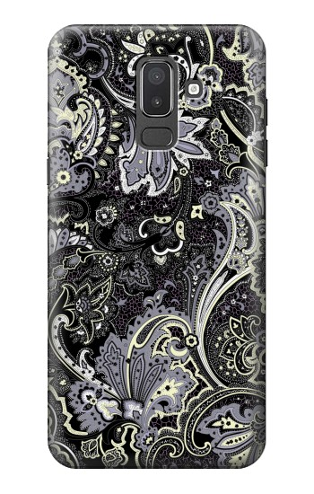 Printed Batik Flower Pattern Samsung Galaxy J8 Case