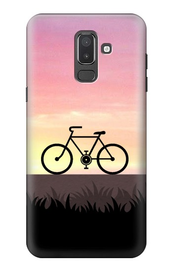Printed Bicycle Sunset Samsung Galaxy J8 Case