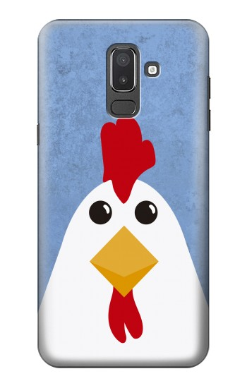 Printed Chicken Cartoon Samsung Galaxy J8 Case