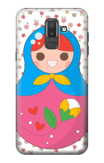 Printed Russian Doll Matryoshka Samsung Galaxy J8 Case