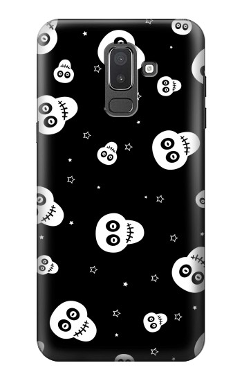 Printed Skull Pattern Samsung Galaxy J8 Case