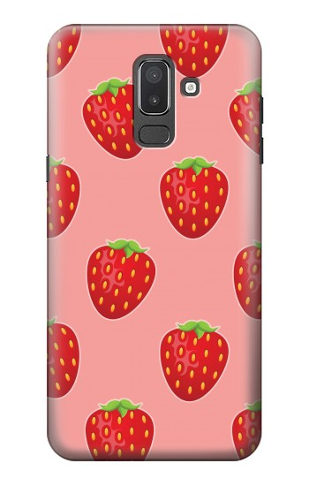 Printed Strawberry Fruit Pattern Samsung Galaxy J8 Case