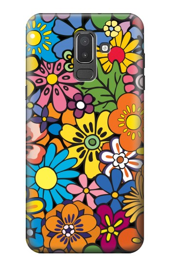 Printed Colorful Flowers Pattern Samsung Galaxy J8 Case