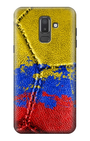 Printed Colombia Flag Vintage Football 2018 Samsung Galaxy J8 Case