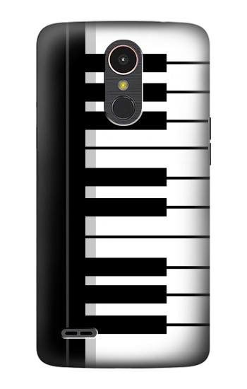 Printed Black and White Piano Keyboard LG K10 (2017) Case