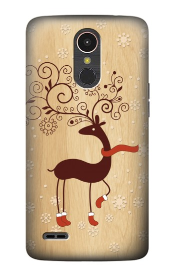 Printed Wooden Raindeer LG K10 (2017) Case