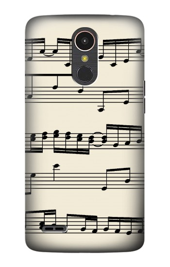 Printed Music Sheet LG K10 (2017) Case