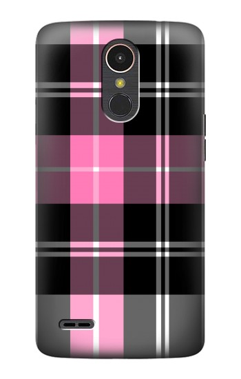 Printed Pink Plaid Pattern LG K10 (2017) Case