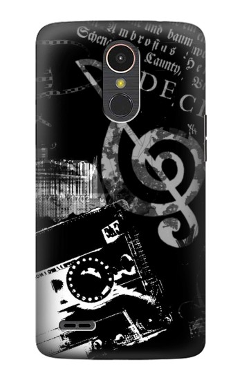 Printed Music Cassette Note LG K10 (2017) Case