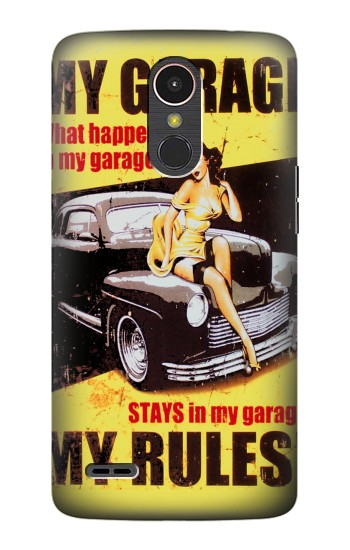 Printed My Garage Pinup Girl LG K10 (2017) Case