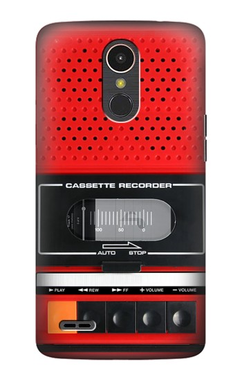 Printed Red Cassette Recorder Graphic LG K10 (2017) Case