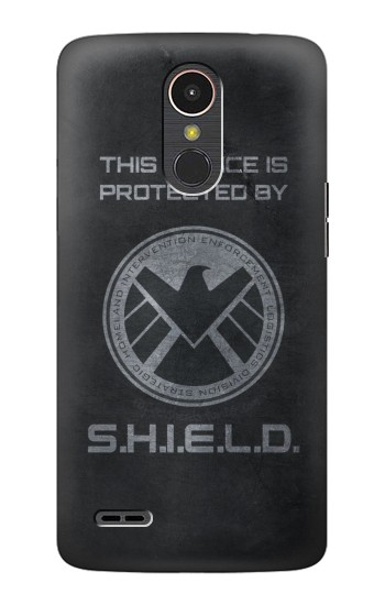 Printed This Device is Protected by Shield LG K10 (2017) Case