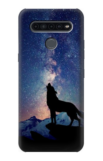 Printed Wolf Howling Million Star LG K41S Case