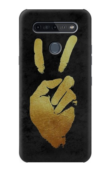 Printed Victory Hand Sign LG K51S Case