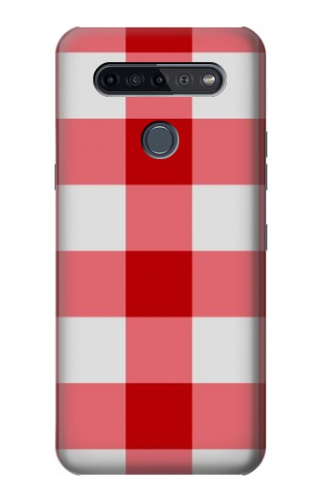 Printed Red Gingham LG K51S Case