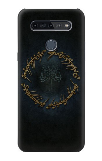 Printed Lord of The Rings Ring Elf Writing LG K51S Case
