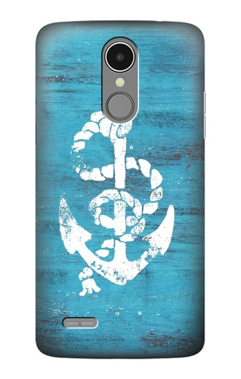 Printed Marine Anchor Blue Wooden LG K8 (2017) Case