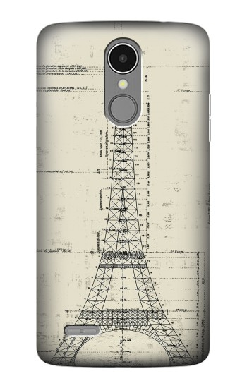 Printed Eiffel Architectural Drawing LG K8 (2017) Case