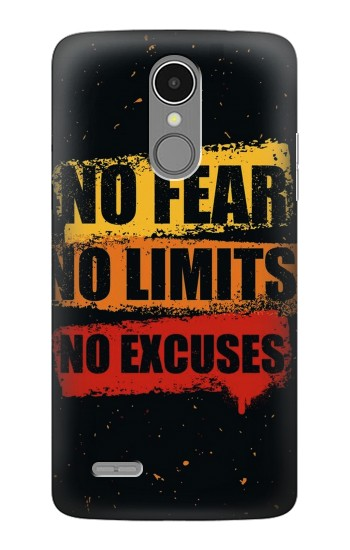 Printed No Fear Limits Excuses LG K8 (2017) Case