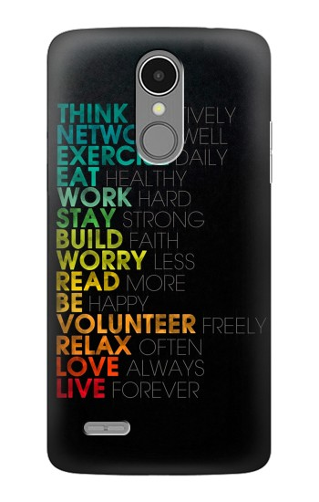 Printed Think Positive Words Quotes LG K8 (2017) Case