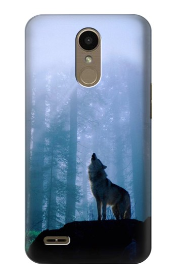 Printed Wolf Howling in Forest LG K10 (2018) Case