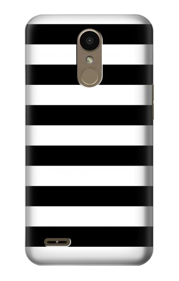 Printed Black and White Striped LG K10 (2018) Case
