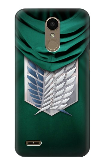 Printed Attack on Titan Scouting Legion Rivaille Green Cloak LG K10 (2018) Case