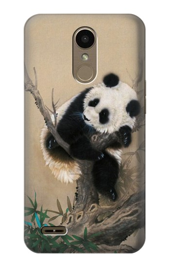 Printed Panda Fluffy Art Painting LG K10 (2018) Case