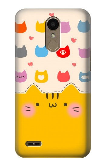 Printed Cute Cat Pattern LG K10 (2018) Case