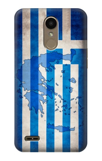 Printed Greece Map Flag LG K10 (2018) Case