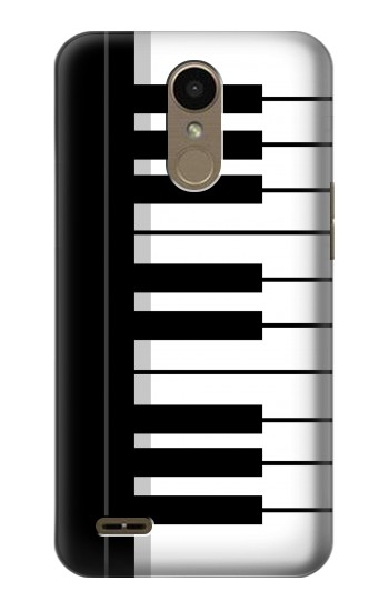 Printed Black and White Piano Keyboard LG K10 (2018) Case